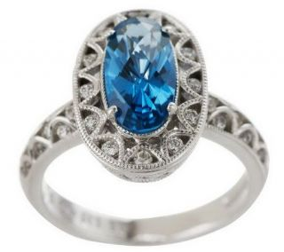 Tacori IV Diamonique Epiphany Oval Simulated Gemstone Ring —