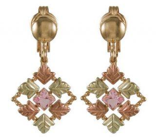 Black Hills Checkerboard Pink Helenite Earrings, 10K/12K/14K