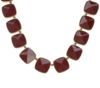 Luxe Rachel Zoe Faceted Peaked Stone Necklace   J263227