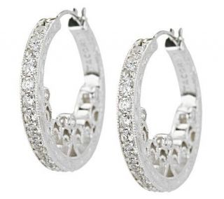 Tacori IV Diamonique Epiphany Harlequin Heart Hoop Earrings —