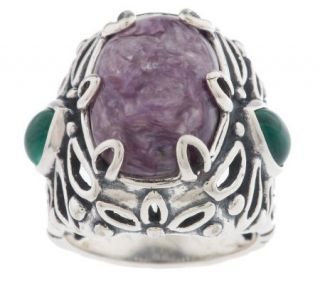 Carolyn Pollack Sterling Charmed by Charoite Ring —