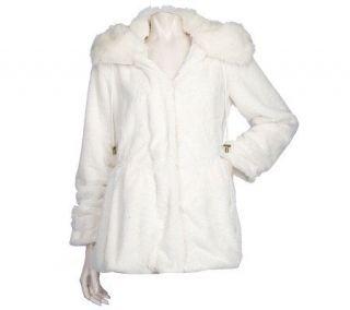 Dennis Basso Faux Fur Hooded Anorak Jacket —