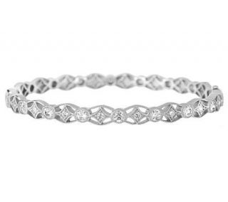 Tacori IV Diamonique Epiphany Lace 100 Facet Bangle Bracelet