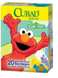 Curad Sesame Street Bandages Assorted Colors Box of 20