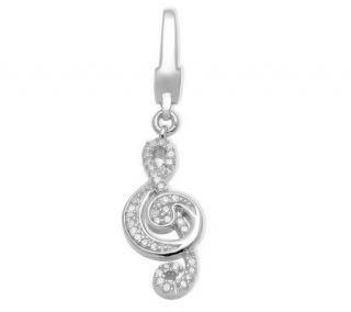 Affinity Diamond Sterling 1/10 ct tw TrebleClef Charm   J114374
