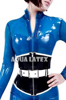Sexy Rubber Latex Corset Corsetry Laceup Back 1mm Thick