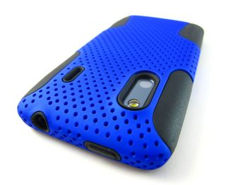 Mesh Hard Soft Combo Case Cover HTC EVO Design 4G Hero s Phone
