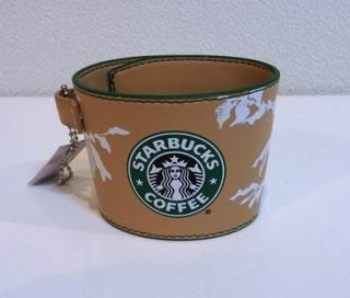 Starbucks Japan Promo Coffee Cup Leather Like Sleeve