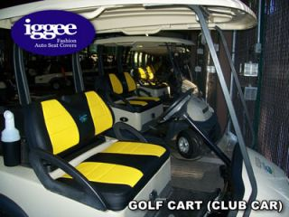 Club Car Golf Cart s Leather Custom Fit Seat Cover