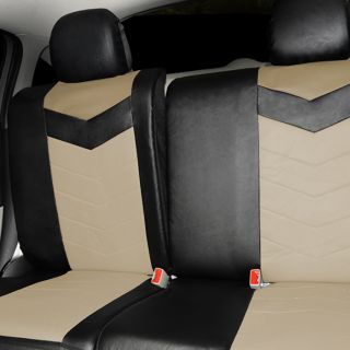 Synthetic Leather Semi   Custom Car Seat Covers 40 60 full split