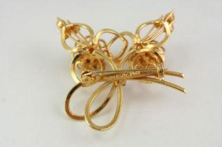 vintage costume jewelry purple gold rhinestone austria flower brooch