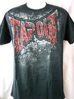 Tapout Night Creeps Authentic Black T Shirt New