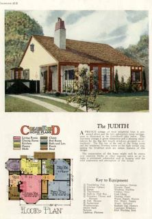1927 Floor Plan Image of A French Cottage Home Design
