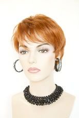 Short Straight Chic Pixie Style Wig Classic Salon Cut Red Blonde White