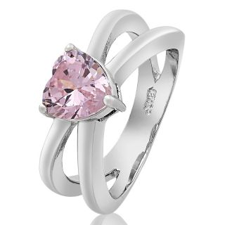 Heart Cut Pink Sapphire Topaz Ring Women Dress Jewelry Size 6 M