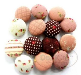 Assorted Cute Sepia Tone Fabric Cover Buttons X0044
