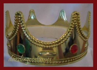 royal crown king queen gold medieval wisemen costume accessory gems