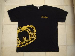 Crown Royal Liquor Whisky Whiskey Black Yellow T Shirt XL