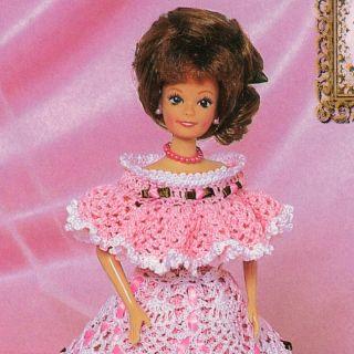 Crochet Pattern Fashion Barbie Doll Bridal Dream 10 RARE Master Guild