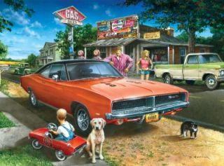 Masterpieces Dan Hatala Country Roads Dreams Classic Cars Jigsaw