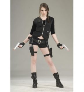 treasure huntress lara croft tomb raider holster guns costume propset