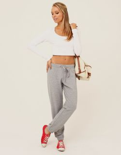 long sleeve cropped top white 1