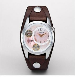 Band Twist Automatic MOP Crystal Dial Womens Watch ME1064