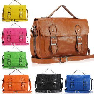 Vintage Satchel Messenger Shoulder Bag Cross Body Handbag