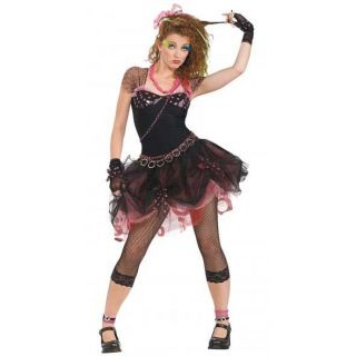 1980s Cyndi Lauper Madonna Rockabilly Fancy Dress Costume