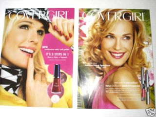 2004 2005 Orig Molly Sims CoverGirl Mag Ad Lot of 2