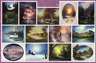 Bob Ross 3 Disks DVD Set Joy of Painting TV Series 23
