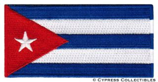 Cuba Flag Embroidered Iron on Pach Emblem Cuban Havana Applique Fidel
