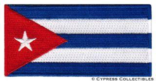Cuba Flag Embroidered Iron on Patch Emblem Cuban Havana Applique Fidel