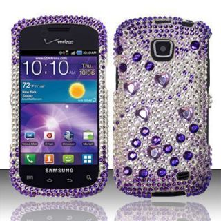 Proclaim Crystal Diamond Bling Case Phone Cover Purple Silver