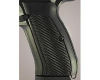 Hogue CZ 75 CZ 85 Grips Checkered G 10 Solid Black 75179 Free Shipping