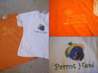 Two Womens Jimmy Buffett Shirts Margaritaville and Parrothead NICE