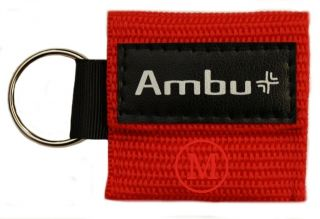 Ambu Res Cue Key Mini CPR Keychain Mask Face Shield Barrier Kit