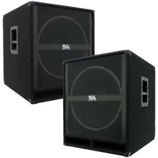 SEISMIC AUDIO 18 PA POWERED SUBWOOFER Active Speakers 500 Watts Each