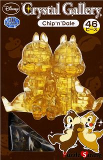 3D Puzzles 44 Pieces Chip Dale Crystal Puzzles Disney Puzzles