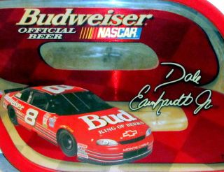 NASCAR DALE EARNHARDT JR   BUDWEISER   8   MIRROR WALL HANGING   BAR