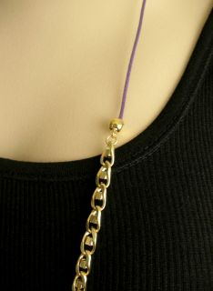 Rachel Leigh Swarovski Crystal Gold Chain Necklace $300