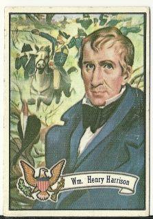 1972 Topps Presidents William Henry Harrison VG 9