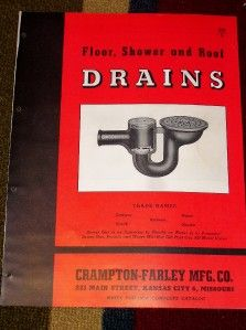 vtg crampton farley mfg co catalog drains floor roof