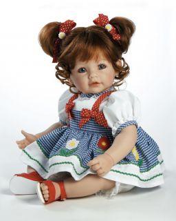 Daisy Delight Adora Vinyl Baby Girl Toddler Doll 20 Auburn Hair Blue