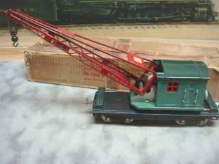 LIONEL STANDARD GAUGE 219 CRANE RARE FORWARD WINDOW BOX 4511