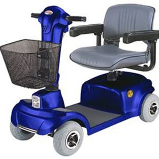 CTM HS 360 4 Wheel Econ Electric Mobility Scooter Blue