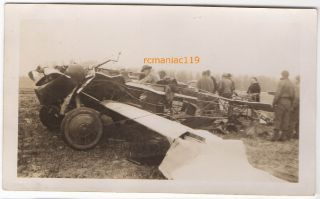 30s Photo Vintage PLANE CRASH Wreck Airplane Waukesha? WI Airport