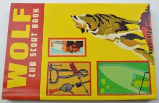 Vintage Boy Scouts of America Wolf Cub Scout Book 1970 Collectible