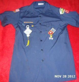 OFFICIAL BOY SCOUTS OF AMERICA CUB UNIFORM SHORT SLEEVE SHIRT YOUTH XL