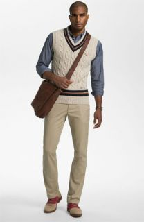 Fred Perry Sweater Vest, Sport Shirt, & AG Jeans Chinos